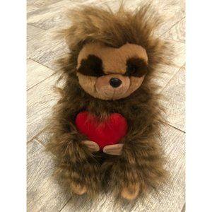 "NWOT Aurora Sloth 14"" Furry Stuffed Animal Plush"
